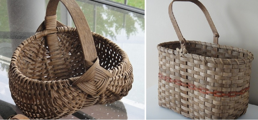 Ribbed Egg Basket and Tall Tote Basket