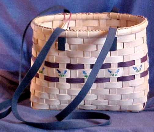 Narrow Tote Basket, October Workshop, Rugby TN