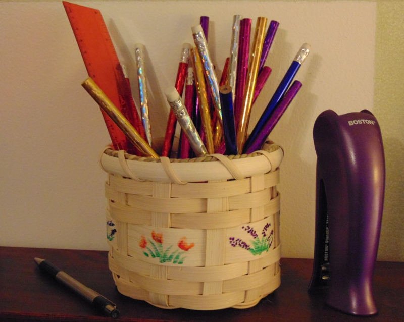 Pencil/Paintbrush Holder Basket Class, Cootie Coo Creations, High Springs, FL
