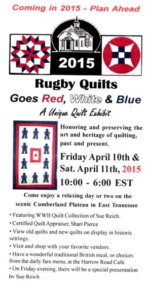 Rugby Quilt Show, Historic Rugby, TN